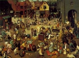 La baalla  de Carnaval y Cuaresma, de Peter Brueghel el Viejo