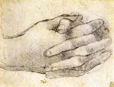 estudio manos Leonardo Da Vinci