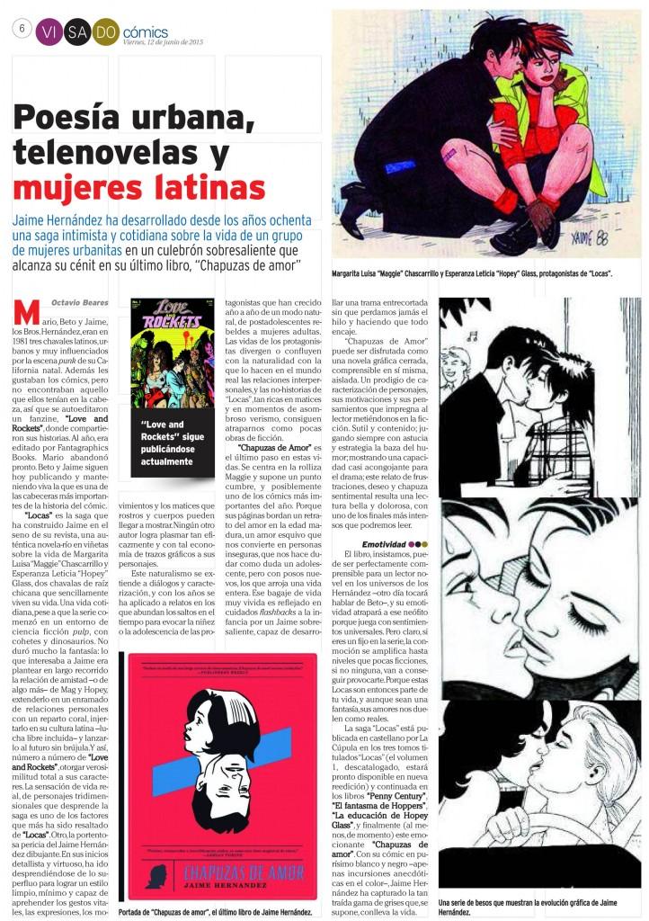 : Visado : Página 6 Cómics Jaime Hernández