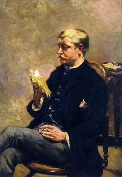 "¿OCTAVIO LEYENDO MAUS? No, no... ""Octave Maus Reading"", de Theo van Rysselberghe (1883-84)"