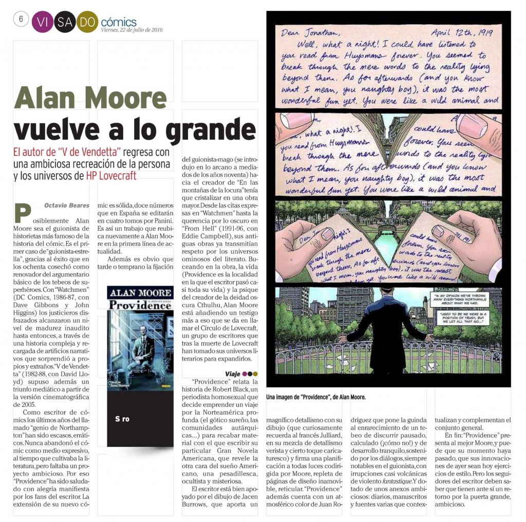 : Visado : Página 6 Cómics Alan Moore Emma Ríos
