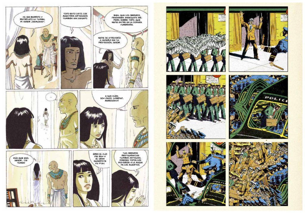En las tierras de Horus (Isabelle Dethan, Yermo Ediciones); Fearless COlours (Sampleman, coedición de Ediciones Valientes/Kus!Komikss/MMMNNNRRRG