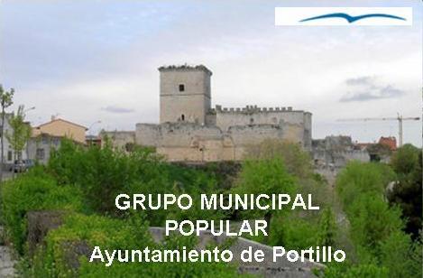 Vista panorámica de Portillo con el castillo al fondo
