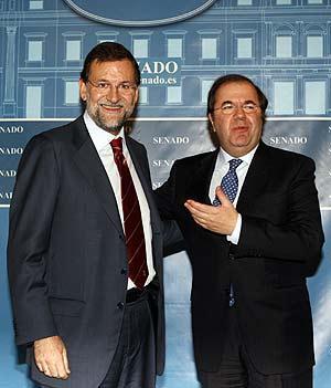 Juanvi Herrera con el falso lider de la derecha, Mariano Rajoy