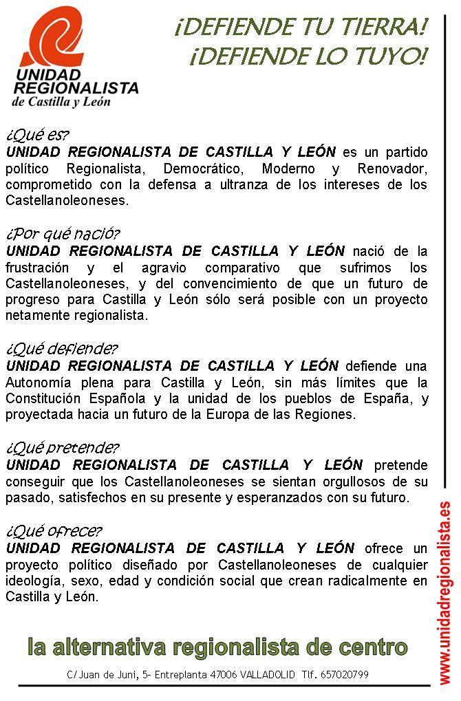 Cartel Unidad Regionalista1