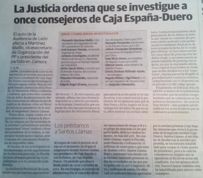 El fraude de Caja España-Duero sigue su curso.
