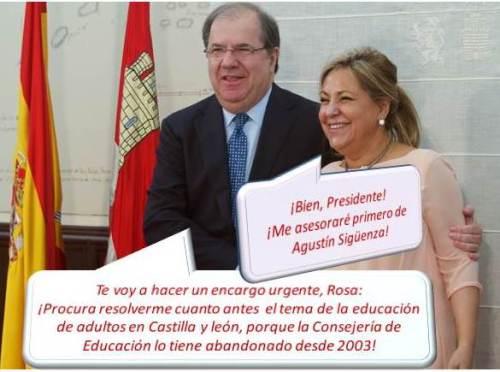 Juan Vicente Herrera y, Rosa Valdeón, quien fuera 'joya de la corona' castellana hasta la denuncia por conducir con exceso de alcohol.
