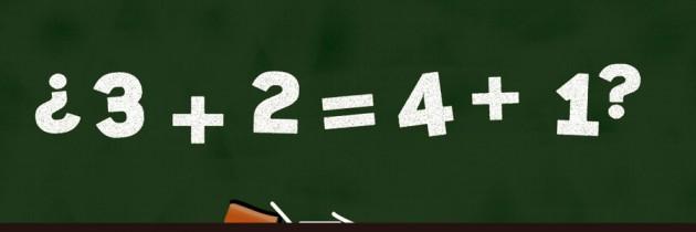 ¿3+2=4+1?